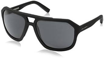 Mens Square Dolce and Gabbana Gloss Black Sunglasses