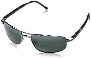 Randolph Bright Chrome and Gunmetal Sunglasses