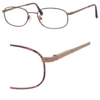 Safilo Havana Copper Eyeglasses
