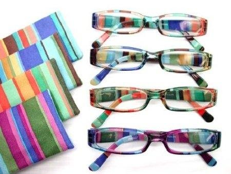 Fiore 4 Pack Designer High Gloss Reading Glasses with Matching Case