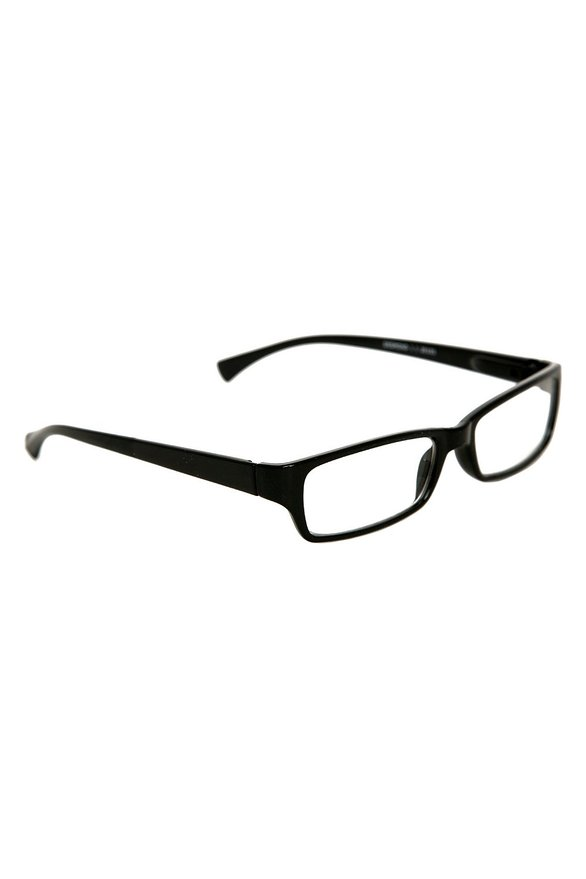 Hot Topic Black Rectangle Clear Lens Reading Glasses
