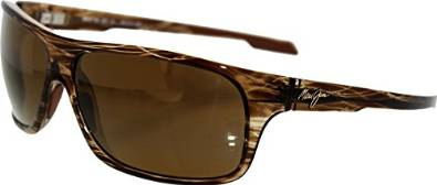 Maui Jim Striped Rootbeer Island Time Sunglasses