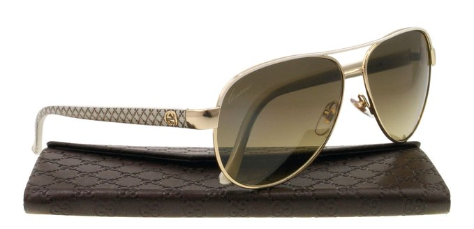 Gucci Womens Designer Sunglasses with Glittery Temples