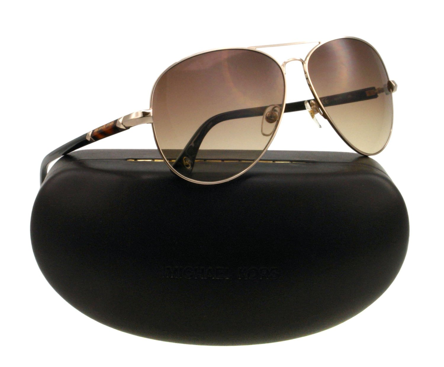 Michael Kors Karmen Gold Brown Sunglasses
