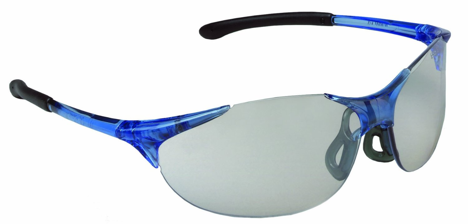 Keystone Safety Glasses with Cool Blue Frame and Clear Lens