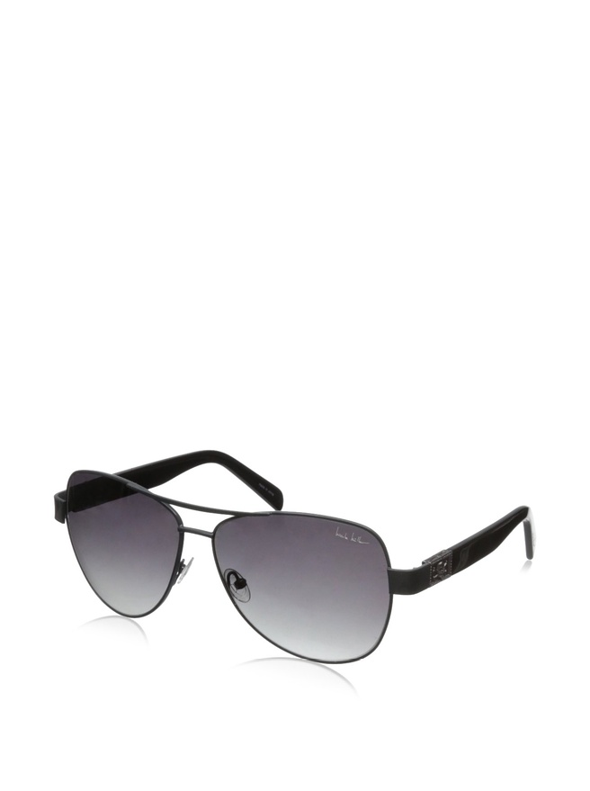 Nicole Miller Stone C01 Khaki and Black Metal Aviator Sunglasses