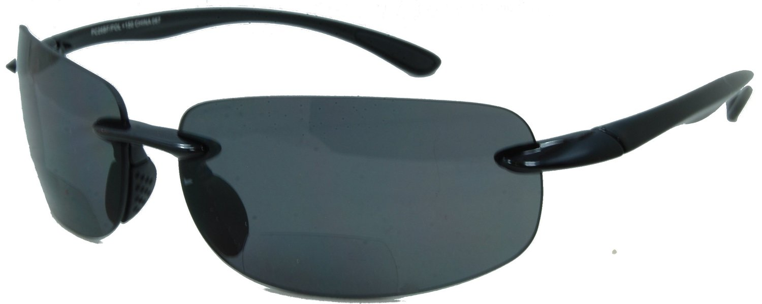 Lovin Maui Wrap Polarized Nearly Invisible Line Bifocal Reader Sunglasses