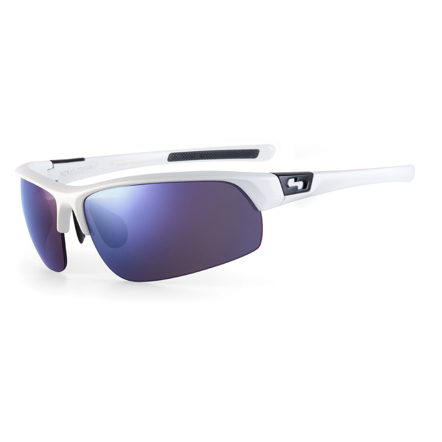 Sundog White Frames with Blue Lenses Mach Sunglasses