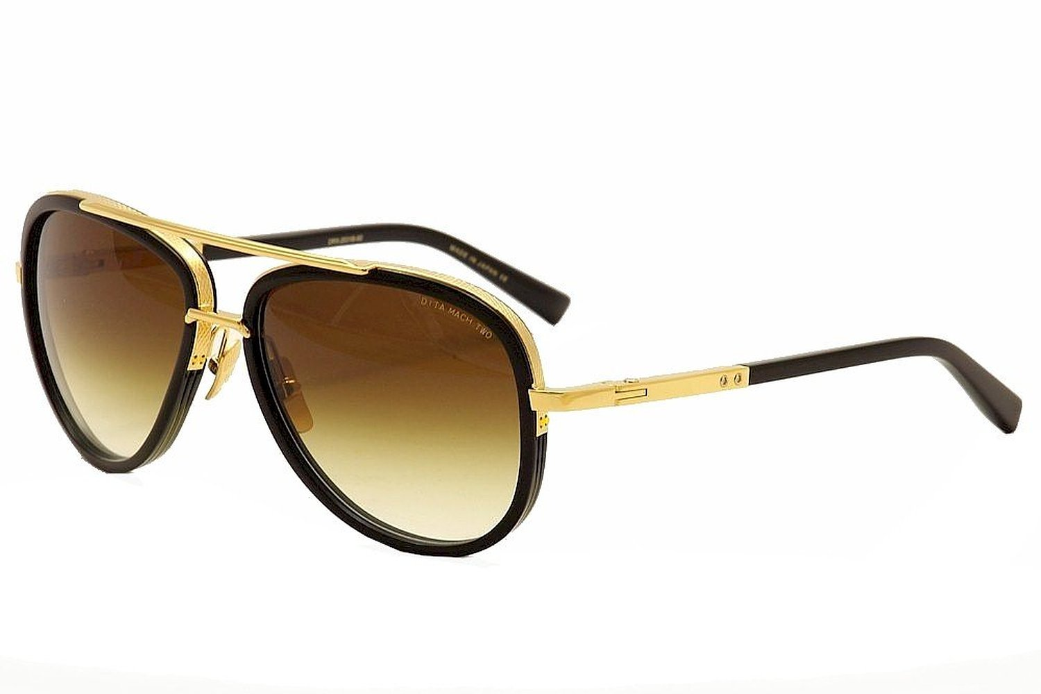 Dita Mach Two Sunglasses Shiny 18K Gold with Black