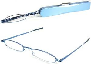 I-Mag Mini Spring Hinged Reading Glasses with Hard Protective Case