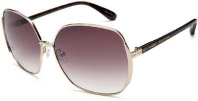 Gold Sunglasses with Gradient Gray Lenses