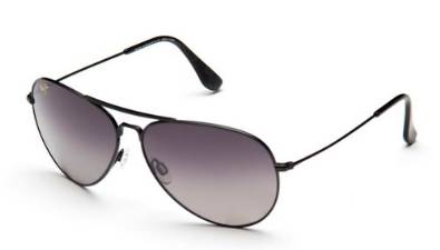 Glossy Black and Grey Maverick Shades by Maui Jim