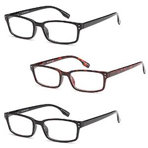 Striated Bamboo Mens Reading Glasses with Matching Case