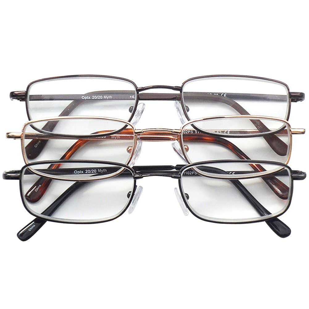 Metal Frame Readers in three colors