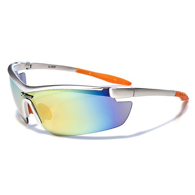 Mirozi Mens Semi-Rimless Wrap around Sporty Sunglasses wit cool Colored Lens