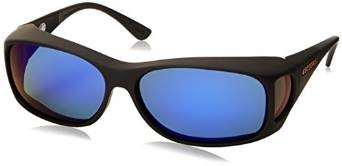 MX Style Black and Blue Cocoons Rectangular Sunglasses