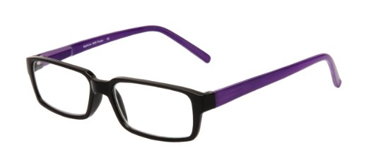 SightLine Fashion Readers No-Line Bifocal Reading Glasses with Plastic Rectangular Frame and Spring Hinges