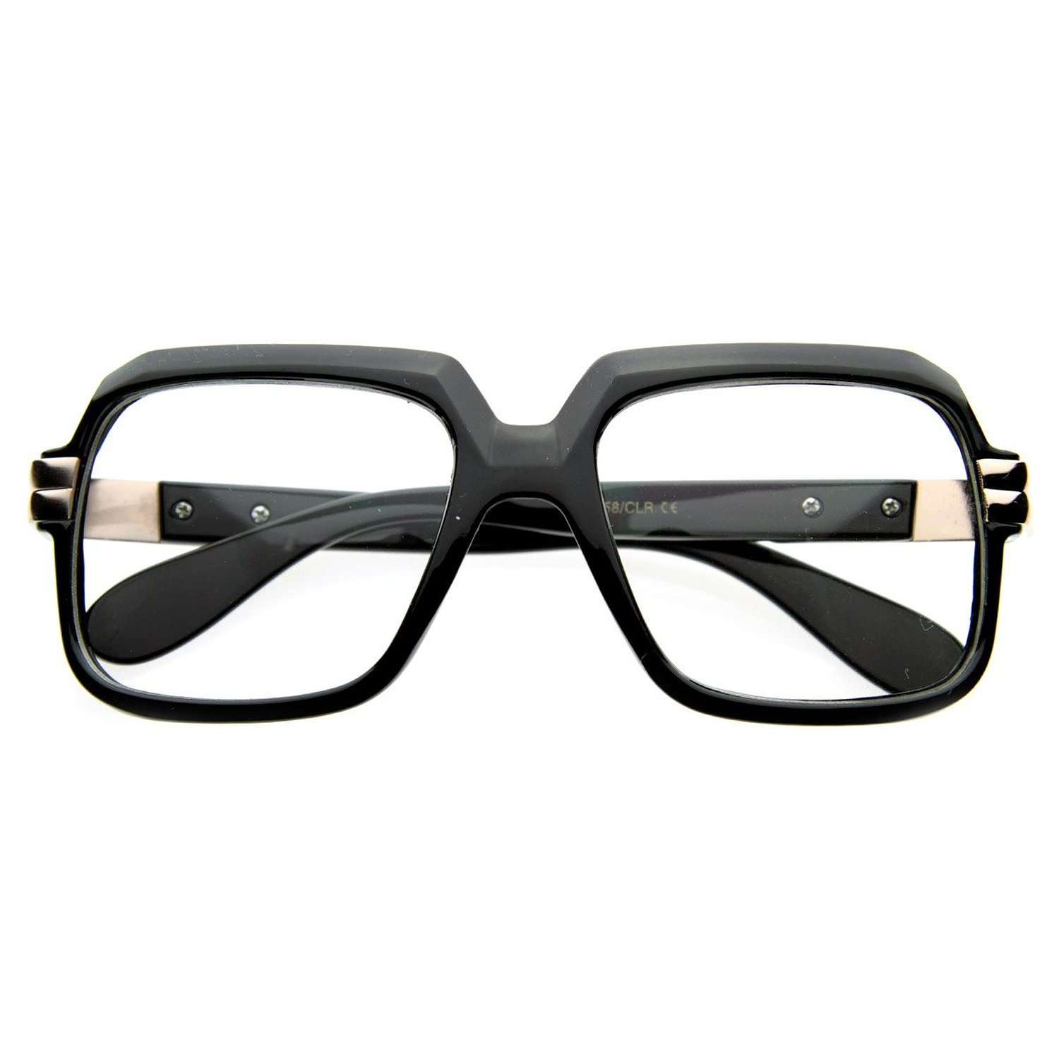 old school vintage squared clear lens eyeglasses