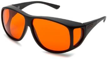 Cocoons Low Vision Black and Orange Polarized Sunglasses