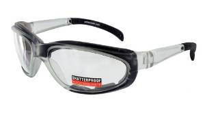 Pagos Safety Glasses with Foam Padding and a Crystal Frame