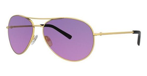 Nicole Miller Moore Sunglasses with Yellow frame and Pink Mirror Lens