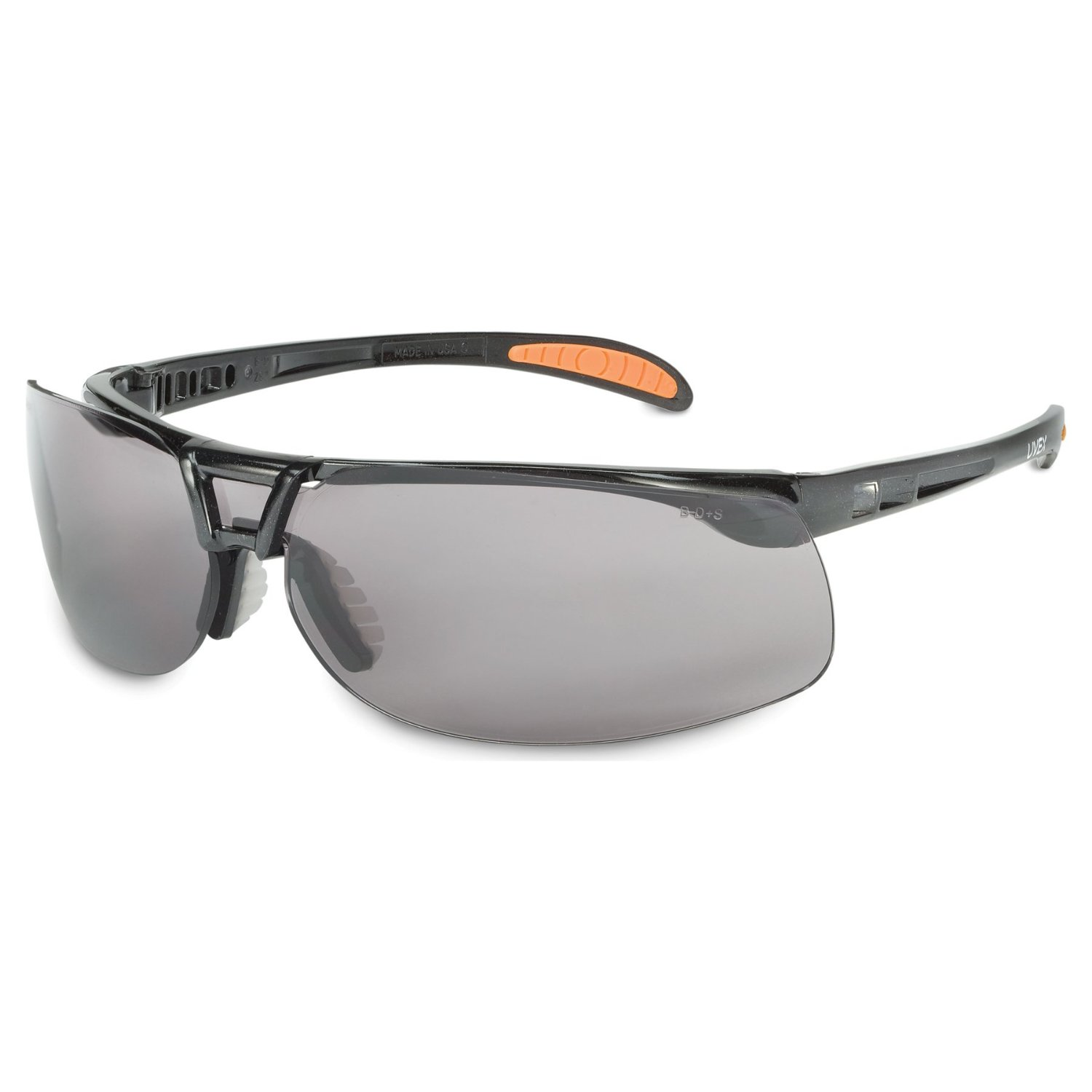 Uvex S4200 Protégé Safety Eyewear with a Cool Metallic Black Frame
