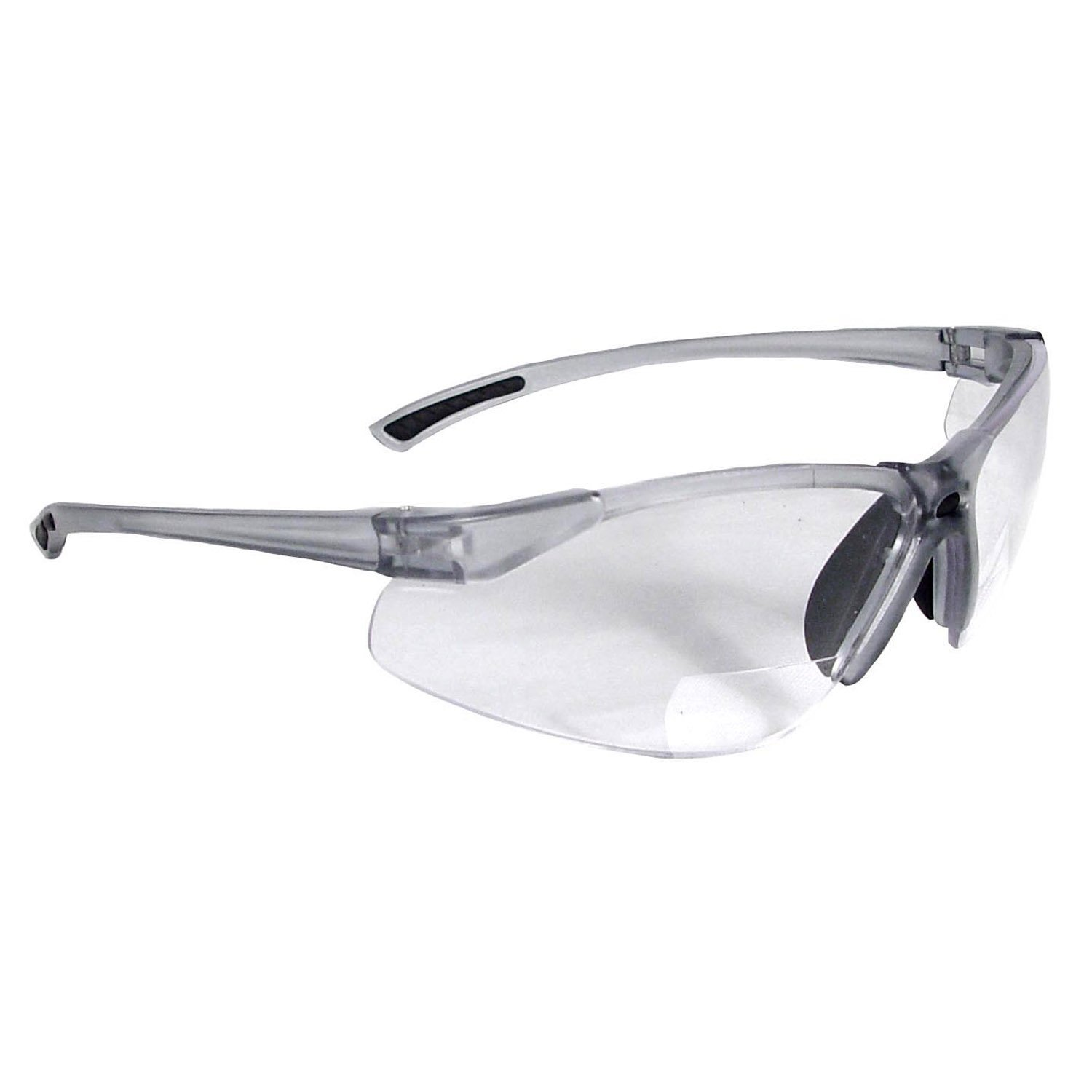 Radians Bi-Focal Reading Safety Glasses with Clear 1.5 Magnifying Lens