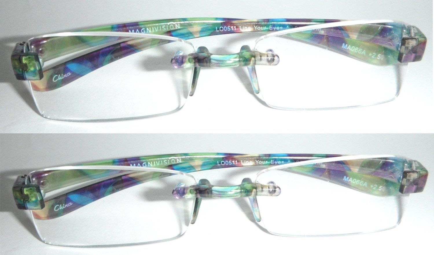 Magnivision Featherlight Rimless Frameless Reading Glasses