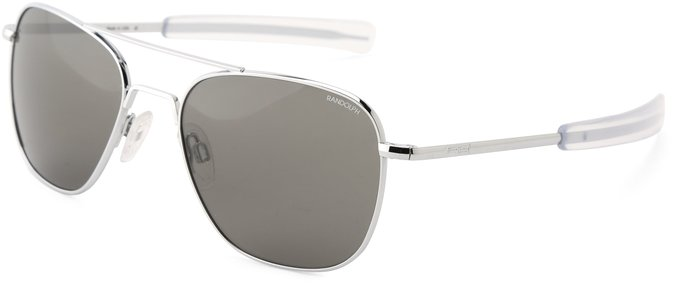 Randolph Aviator Sunglasses with Gun Metal Frame