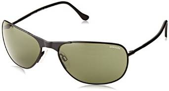 Randolph Raptor Oval Sunglasses in Matte Black