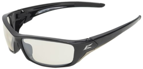 Edge Reclus Safety Glasses, Black with Clear Anti Reflective Lens