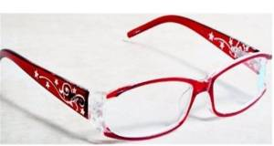 Foster Grant Red Stars and Rhinestone Scrolls Reading Glasses