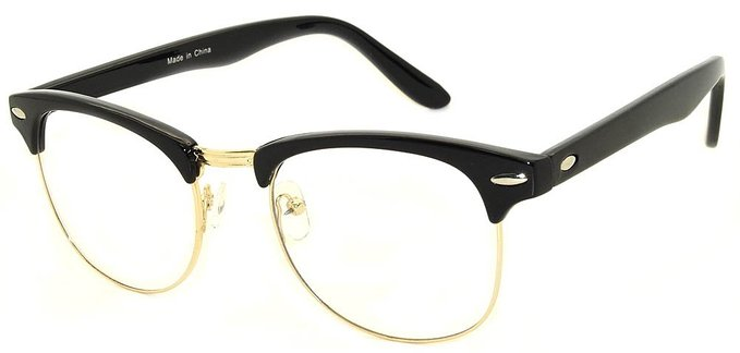 Retro Classic Wayfarer Metal Glasses