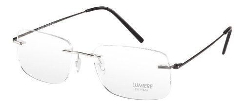 Unisex Rimless Titanium Gun Eye Glasses with an Ultra Light Frame
