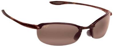 Makaha Maui Jim Sunglasses With Pink Lenses and a Brown Frame
