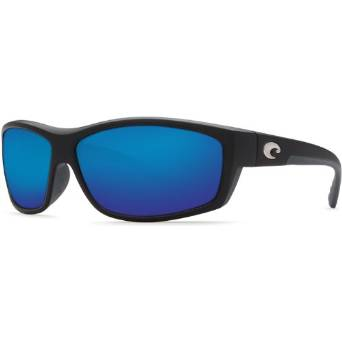 Costa Del Mar Black and Blue Saltbreak Sunglasses for Men