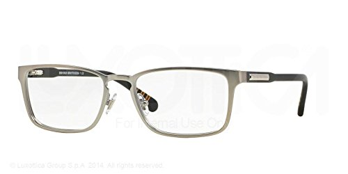 Sleek Satin Silver Brooks Eyeglasses