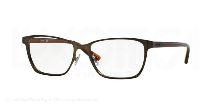 Donna Karan New York Satiny Brown Eyeglasses