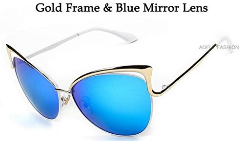 Dita Sexy Blue Cat Eye Sunglasses