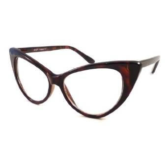 Guess Sexy Cat Eye Eyeglass Frames