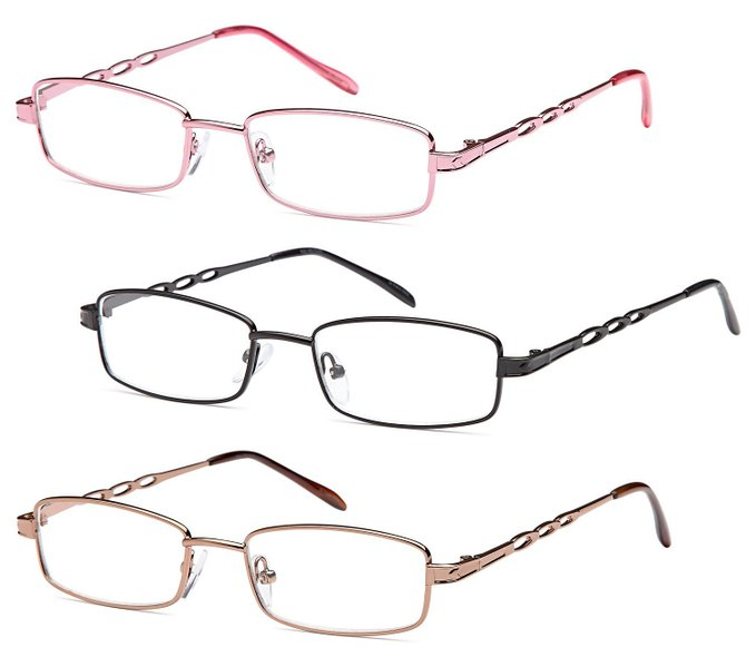 Fashionable Stainless Steel Reading Glasses for Women