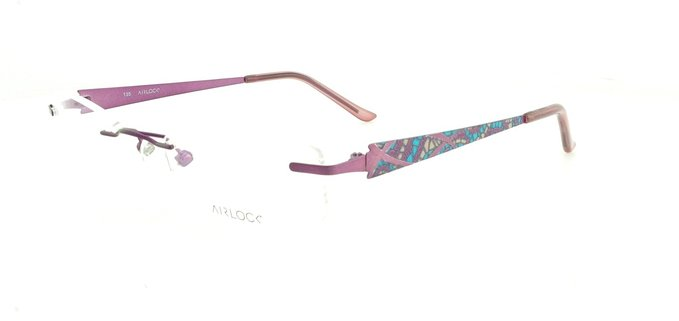 Marchon Airlock Shattered Mosaic Plum Eyeglasses