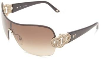 Escada Satin Gold Shield Sunglasses