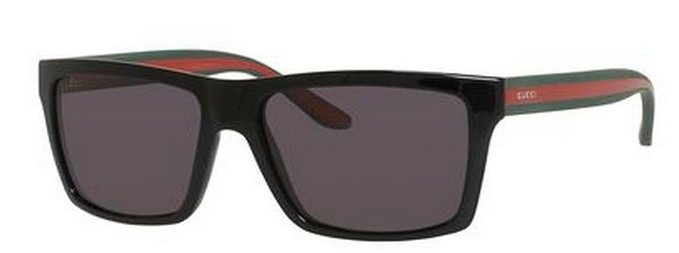 Gucci Shiny Black Polarized Sunglasses