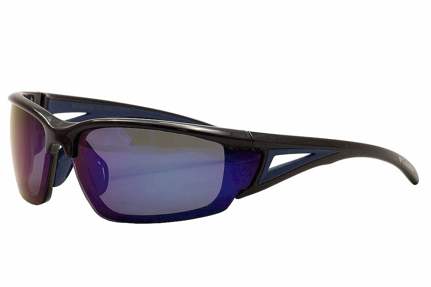 Columbia Unisex 402 Shiny Black and Blue Sunglasses