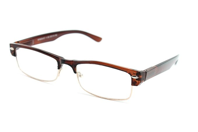 Slick Half Frame Slim Spring Temple Reading Glasses