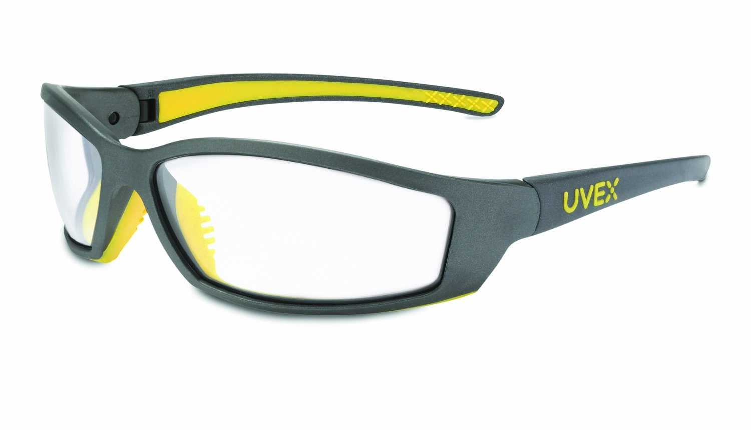 Uvex SolarPro Safety Eyewear with a Super Cool Gray and Yellow Frame