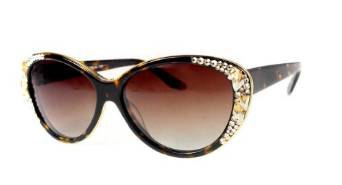 Sexy Sophie Jimmy Crystal Brown Sunglasses