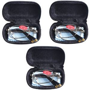 3 PRS Southern Seas Unisex Folding Travel Size Reading Glasses with Cases