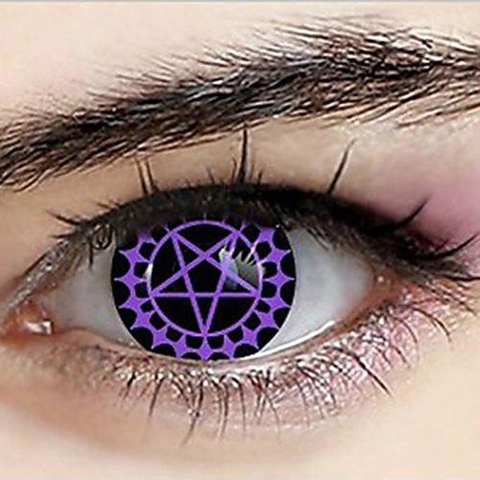 Black Butler Ceil Phantomhive Demonic Pact Contact Lenses